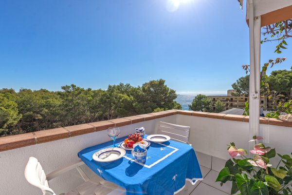 Sea view balcony in Apartment Portals Nous Mallorca